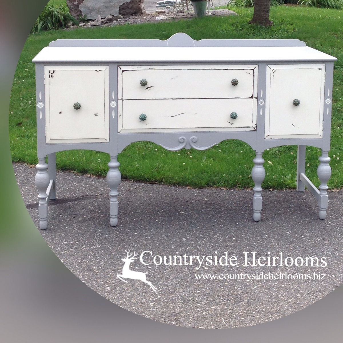Discarded Buffet Turned Country Chic Glam With Minimal Effort!